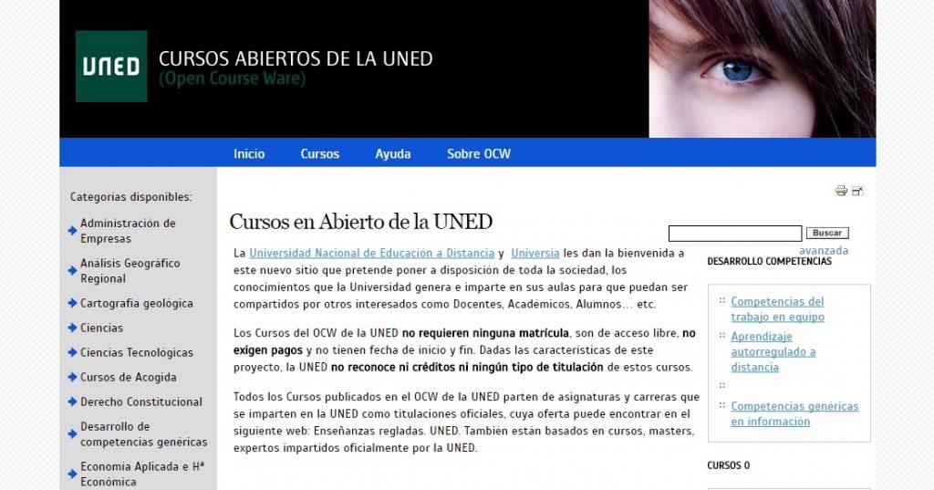 Cursos en abierto de la UNED