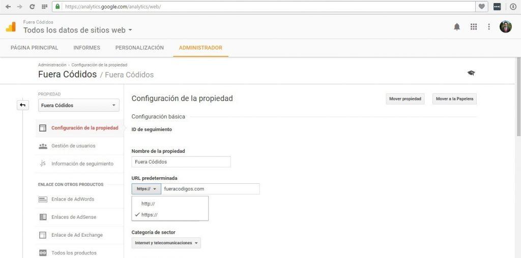 Google Analytics Propiedad