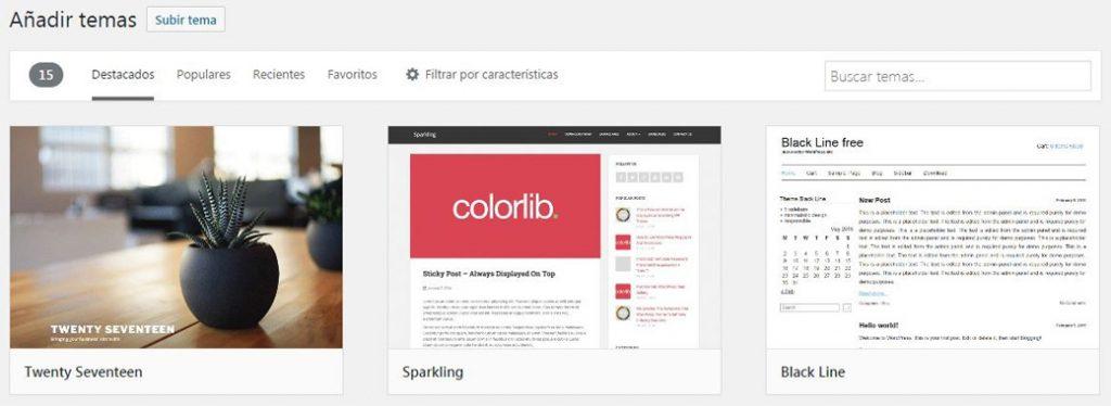 Plantillas para WordPress gratis