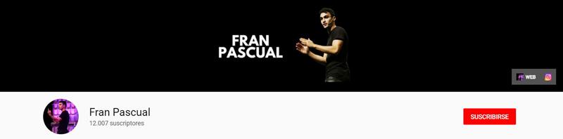 Fran Pascual- Canal de YouTube