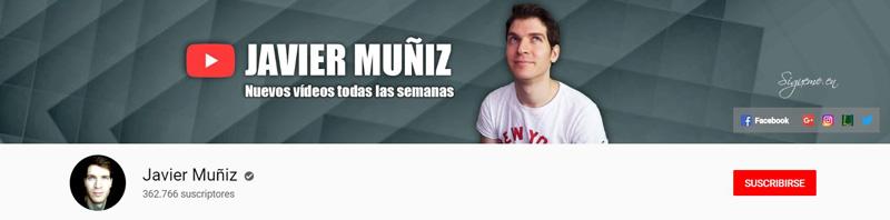 Javier Muñiz - Canal de YouTube