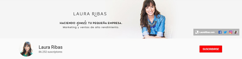Laura Ribas - Canal de YouTube