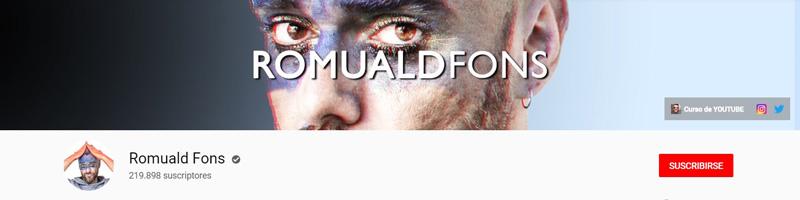 Romuald Fons - Canal de YouTube
