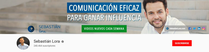 Sebastián Lora - Canal de YouTube