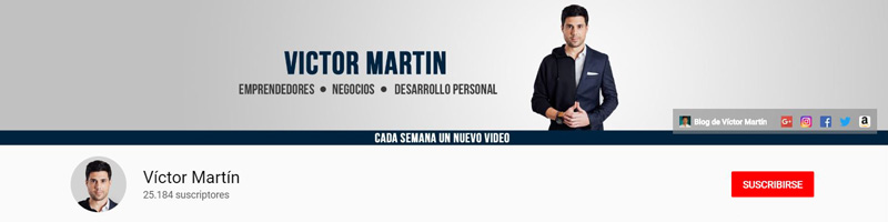 Victor Martín - Canal de YouTube