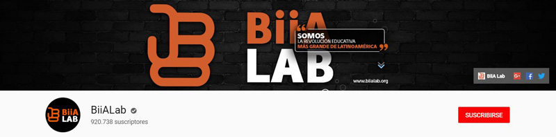BiiALab - Canal de YouTube