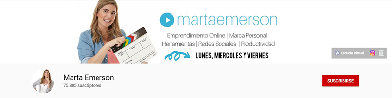 Marta Emerson - Canal de YouTube
