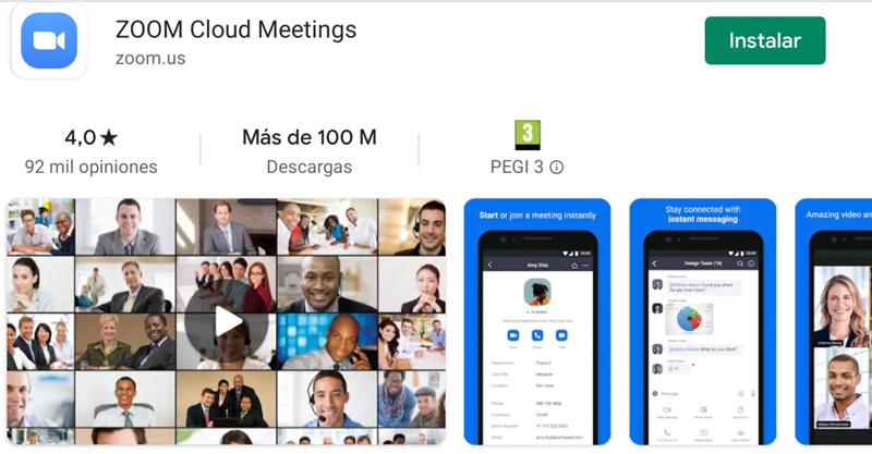 Descargar app Zoom desde Google Play