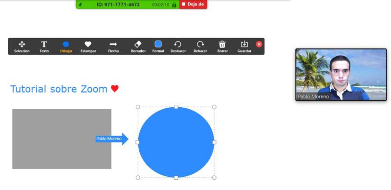 Usar pizarra virtual en Zoom