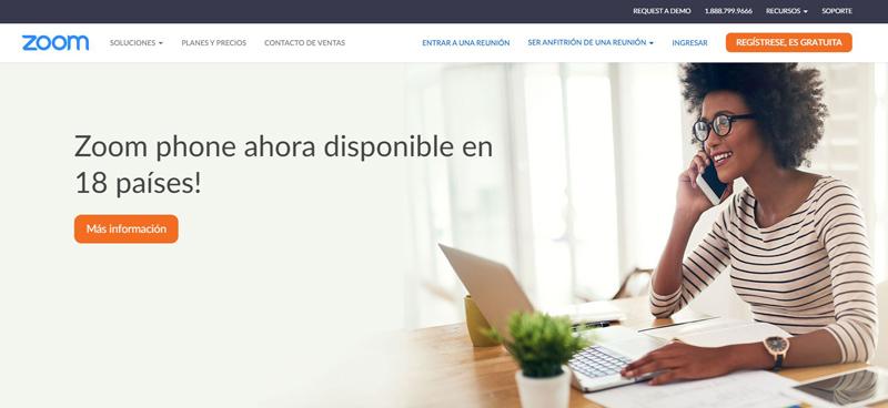 Web oficial de Zoom