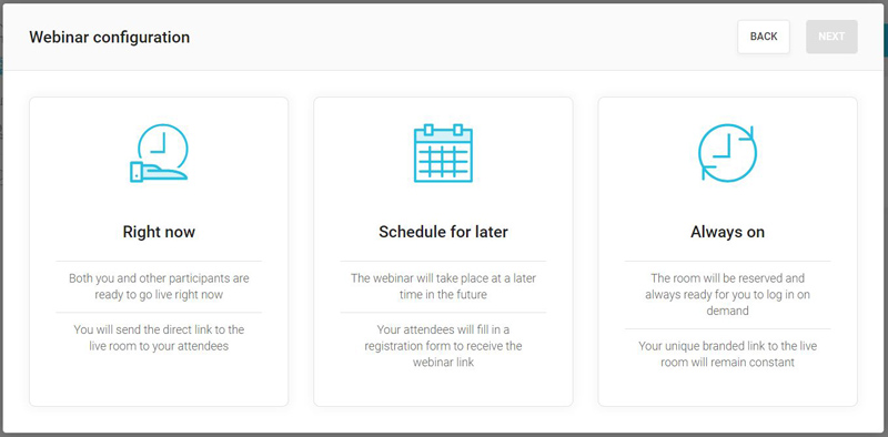 Crear un webinar exprés