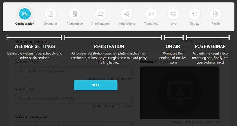 WebinarJam configuración completa