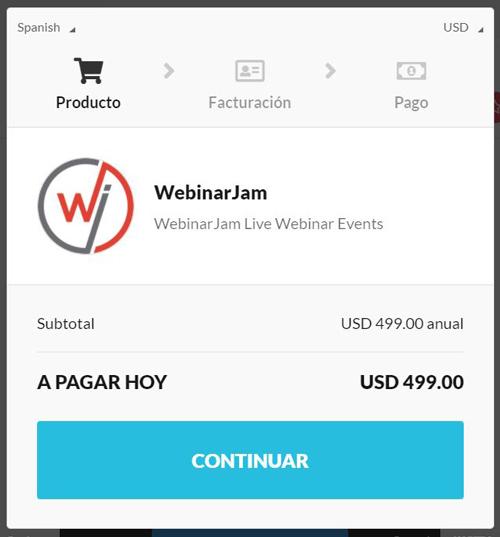Crear una cuenta en WebinarJam